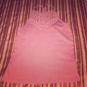 Pink summer crop top